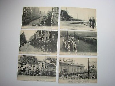 Japanese WW1 Military Post Cards, 6 x Vladivostock Russia Allied Troops 1918