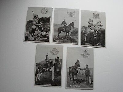 British Pre WW1 Military Post Cards,  5 x The Star Series