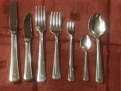 Vintage 1988 Northwest Airlines 7-piece Silver Plated Flatware Set by Oneida