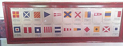 22 WWII Navy Signal Cards Mounted and Framed
