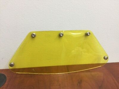 NOS Vintage Bell Paulson Racing Helmet Snap On Face Shield Visor Yellow Model 1