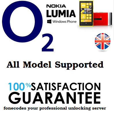 Nokia Lumia o2 UK Unlocking unlock code for Microsoft 535 435 735 530 1520