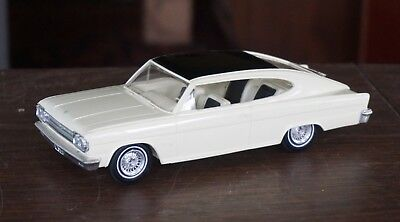 Old American Motors Marlin 1965? Promo In White With Black Top & Trunk
