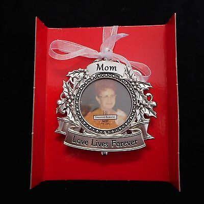 "NEW MOM Memorial Photo Ornament from Ganz, ""Love lives forever'"