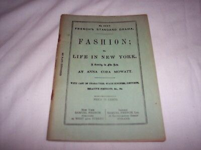 Play Drama Script ~ Fashion Life in New York ~ Comedy in Five Acts