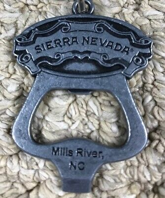 New Silver Sierra Nevada Brewing Co. Bottle Opener Keychain Chico California