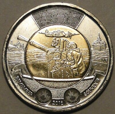 "Canada 2016 $2 dollar ""75th Battle of the Atlantic"" toonie coin nice circulated"