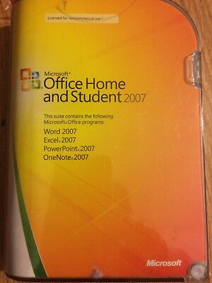 Microsoft OFFICE HOME and STUDENT 2007 Software w/Product Key