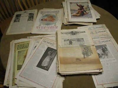 Huge Lot  111 The Youth's Companion, Perry Mason Weekly Newspaper Boston