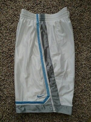 1a8ab72a8db6 New Nike Mesh Lined Men s Sz XL Basketball Shorts Rare deadstock White Blue  Grey