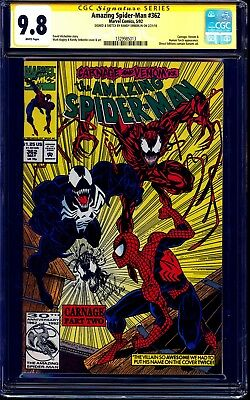 Amazing Spider-Man #362 CGC SS 9.8 signed CARNAGE REMARK Randy Emberlin NM/MT