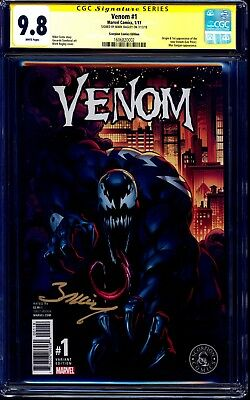 Venom #1 SCORPION COMICS VARIANT CGC SS 9.8 signed Mark Bagley 1:3000 NM/MT