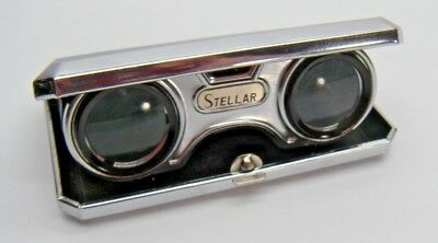 Vintage Stellar Folding Sport Glass 2.5x Coated Lens with Top Half of Box