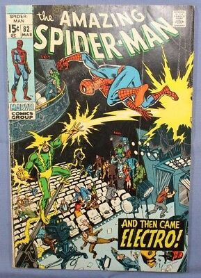 The Amazing Spider-Man # 82 Marvel Comics 1969 Silver Age Electro