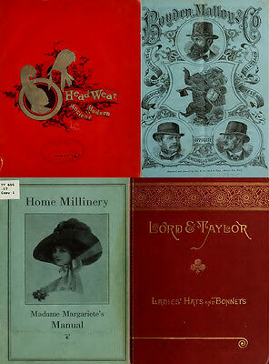 60 Rare Books On Hat Making & Millinery, Vintage Patterns Art Craft Style On Dvd