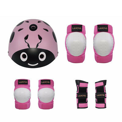 7 pcs Skating Kid Protective Gear Set Child Wrist Guard Knee Elbow Pad Helmet