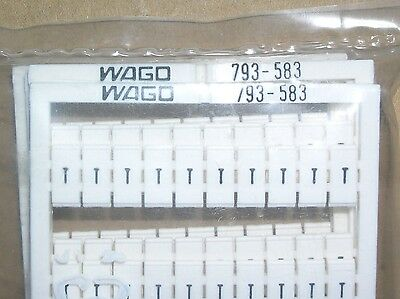 Wago, Terminal Block Markers, Letter T, 793-583, Pack Of 5 Cards