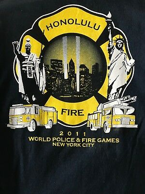 2011 T-shirts World Police & Fire Games New York City Honolulu Fire Department