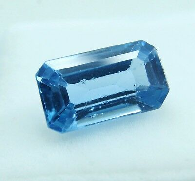 4.15CT Emerald Shape Natural Aquamarine Ocean Blue Transparent GGL certified