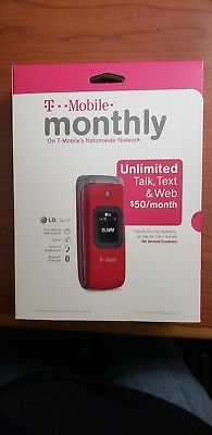 NEW IN A BOX LG GS170 - Red (T-Mobile) Cellular Phone NO CONTRACT. PAY AS YOU GO