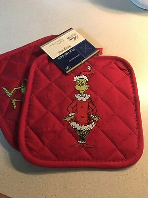 "Grinch Oven Pads/pot Holders ""Nwt"""