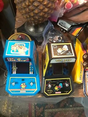 COLECO Ms Pac-Man Mini Arcade Game Set Vintage Pacman Tabletop Working Midway