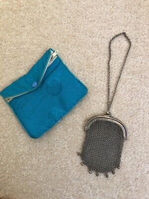 Antique Victorian Hallmarked silver mesh purse