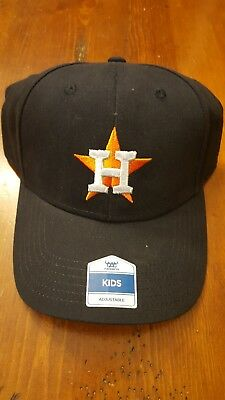 d513c128592162 PAIR OF 2 Houston Astros Home Baseball Cap Adjustable Youth / Kids ...