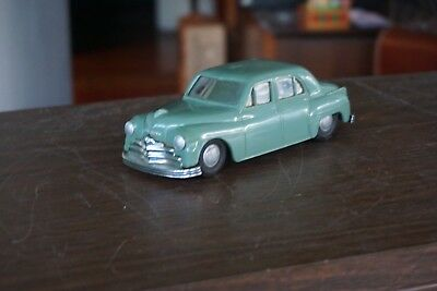 Old 1950's? Green Plymouth Promo With Clockwork Mechanism