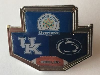2018 2019 Citrus Bowl Dueling Pin Kentucky Wildcats Penn State Nittany Lions