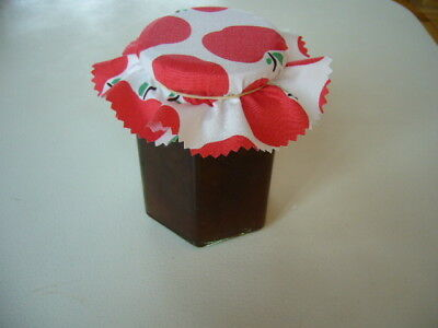 12 X Fabric Jar Lid Covers For Your Home Made Preserves Jams Pickles Chutneys
