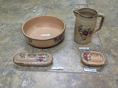 Antique Service From Toilet In Ceramic Pitcher Carol And Accessories Set R72
