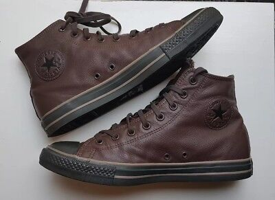 4b77413d6ae9 Converse All Star Hi Tops Leather Brown Elephant Skin Size 10 UK Very Rare  VGC
