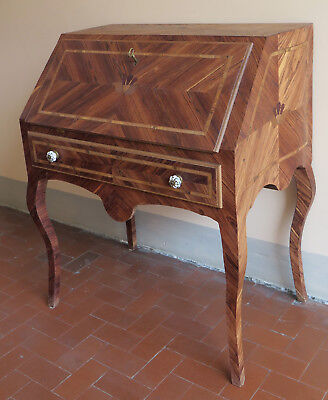Flap Style Antique Louis Xv Made In Hand Fore Secretary Desk Console