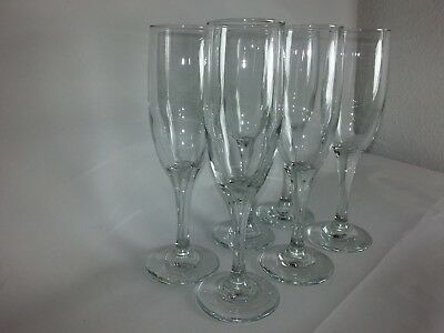 Champagne Flute Glasses Clear, 1 Dozen Brand New Very Good Quality Made In USA