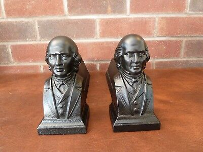 Pair of Vintage French Cast Iron Figural Head Fire Dogs And Irons Inglenook
