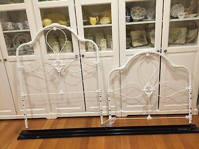 Ivory Wrought Iron Single Bed& BaseShabby Chic, French Provincial Style