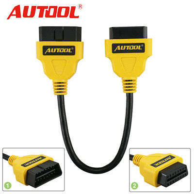 AUTOOL OBD2 OBDII 16PIN Male to Female Extension Cable Diagnostic Connector 30cm