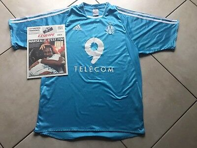 Maillot OM coupe Europe 2003-2004 maillot adidas olympique de marseille  taille M 6eb9ffe54f7c