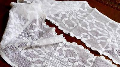 """A121GORGEOUS ANTIQUE HANDMADE BELGIAN LACE BORDER FOR PRIEST ALB 108x11"""""""
