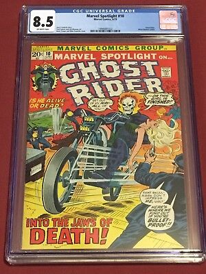MARVEL SPOTLIGHT 10 CGC 8.5 1973 Ghost Rider Friedrich Sutton Mooney Trimpe