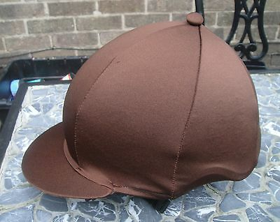 Riding Hat Silk skull cap cover PLAIN BROWN with or without Pompom