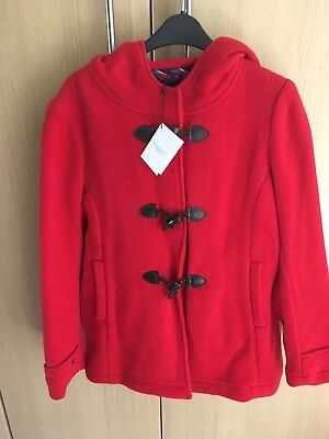 BNWT Girl's HACKETT London Red wool duffle style coat age 15-16 years-suit 13-14