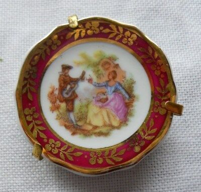 Beautiful Miniature Plate Display / Dolls House Marked DC Limoges France 42 mm