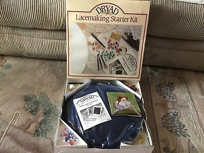 Vintage Bobbin Lace Lacemaking kit for Beginners Dryad Complete Kit Inc Pillow