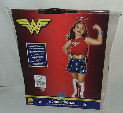 Rubies Wonder Woman Costume Size Small 3 to 4 Years Halloween Dress Up Play