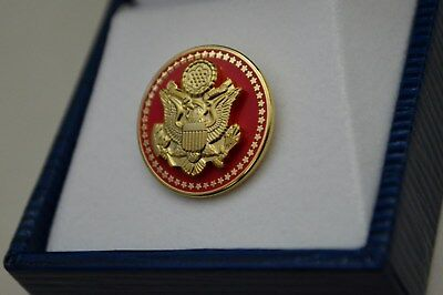 Authentic~High End~50 Star Senate Red Republican Lapel Pin~New Issue~Gorgeous!