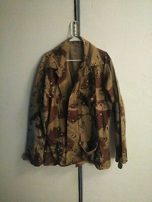 US Military Issued Desert Storm Era Chocolate Chip Camouflage Uniform Top XLarge