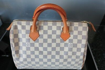 LOUIS VUITTON AUTHENTIQUE Sac Speedy 30 Damier Azur - EUR 363,00 ... cc7eb676029