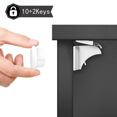 Dokon Child Safety Magnetic Cupboard Locks (10 + 2 Keys), No Tools Or Screws...